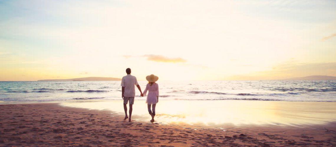 rainbow bay beach couple